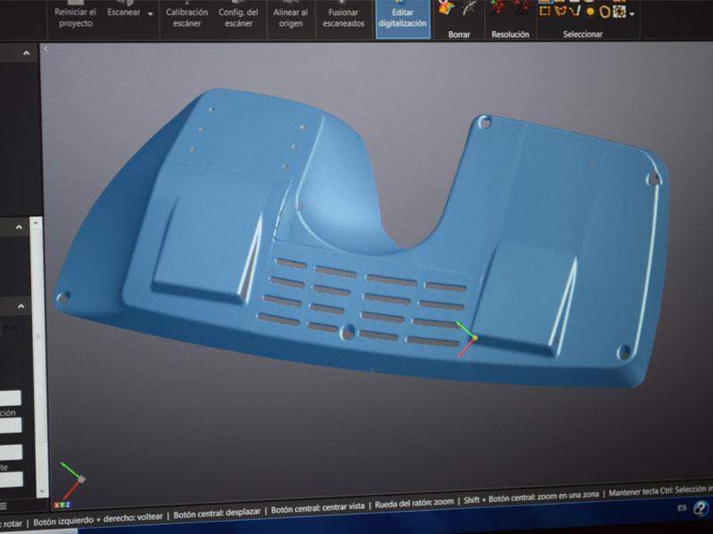 Digitalizado 3D salpicadero